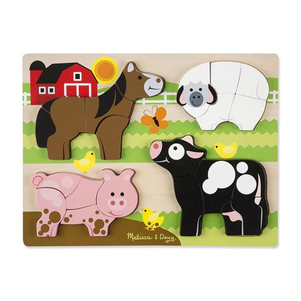 Puzzle Chunky géant animaux de la ferme