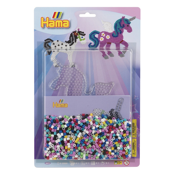 Kit perles à repasser grand modèle licorne