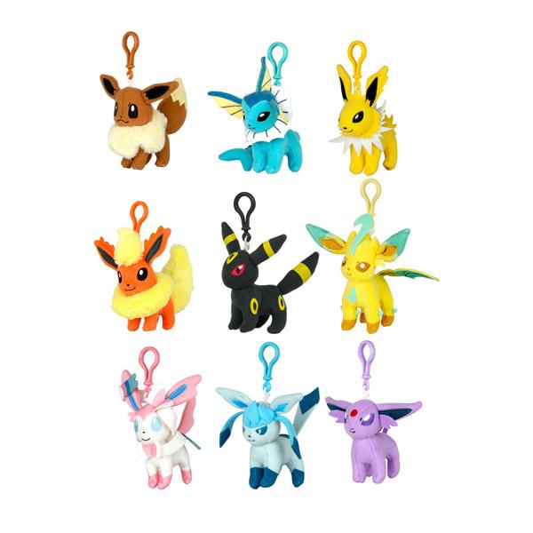 Pok mon porte cl s clip 39 n plush evoli tomy king jouet - Pokemon famille d evoli ...