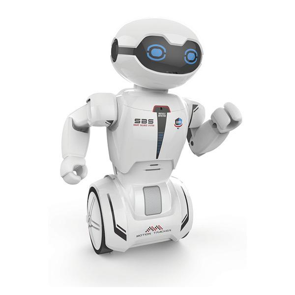 Un robot radiocommandé interactif contrôlable par télécommande pour bien s´amuser ! Ce jouet tient seul sur son balancier, avance dans toutes les directions et tourne en détectant les obstacles. Pour plus de réalisme, ses bras bougent quand il se déplace