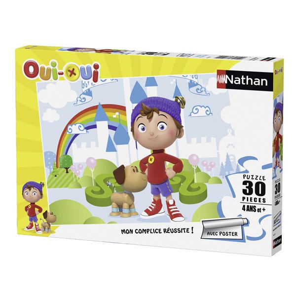 Votre enfant prendra plaisir à assembler ce puzzle de 30 pièces mettant en scène le célèbre personnage de dessins animés Oui-Oui ici en compagnie de l´espiègle chien Zim-Zim. Un poster aux dimensions du puzzle, soit 30 cm x 22 cm donne une bonne idée de c
