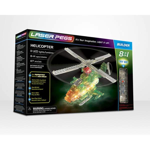 Laser Pegs-Hélicoptère scout 8 en 1