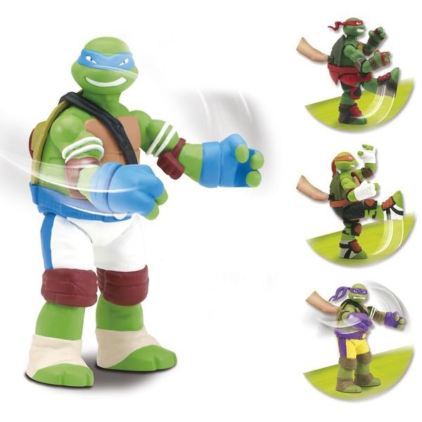 Tortues Ninja-Figurine articulée 12 cm combattante avec accessoires