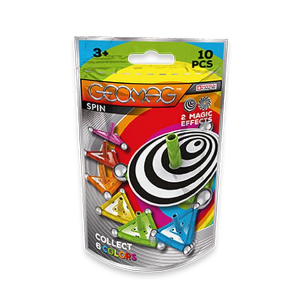 Avec la toupie magnétique Geomag , amusez-vous deux fois plus : de l´assemblage à l´instant de jeu, cette toupie à collectionner offre une multitude de possibilités de jeu. En collectionnant les toupies de couleurs, les éléments s´assemblent pour développ