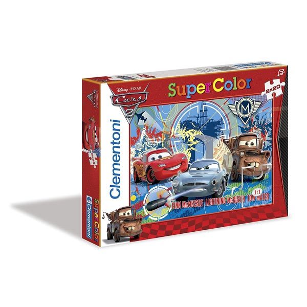 La boîte comprend deux puzzles de 20 pièces à l´effigie des héros de Cars 2. Il permettront à votre enfant de développer sa motricité et sa concentration.