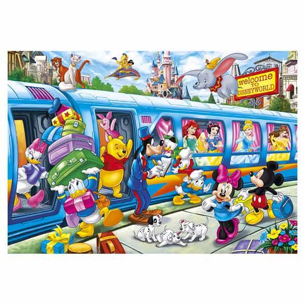 Puzzle 104 pièces Disney family