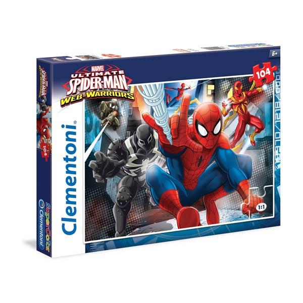 Un puzzle de 104 pièces à l´effigie de Spiderman que votre enfant aimera faire et refaire autant de fois qu´il le souhaite. Permettra de stimuler la concentration de votre enfant.