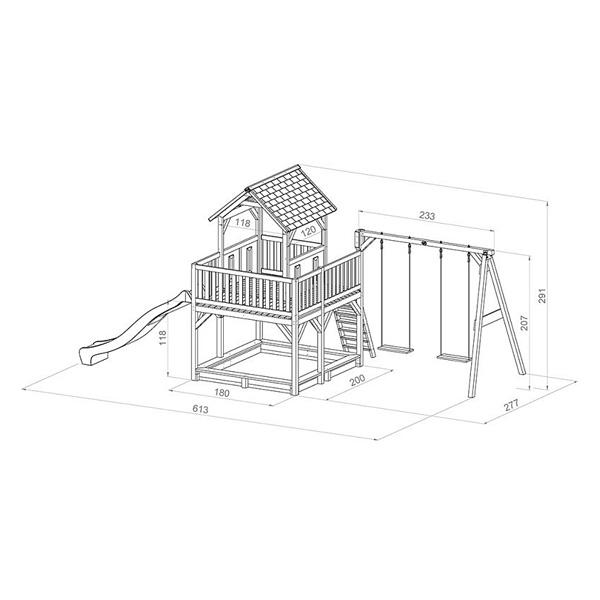 Maison Atka avec 2 balançoires