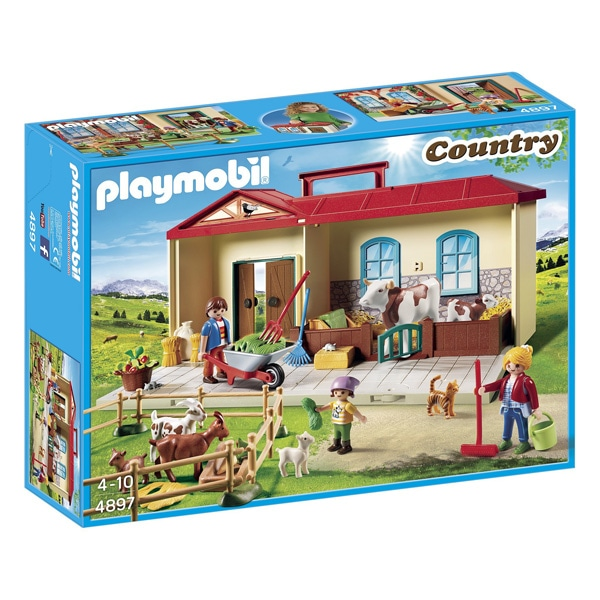 4897 ferme transportable playmobil country playmobil king jouet playmobil playmobil jeux d. Black Bedroom Furniture Sets. Home Design Ideas