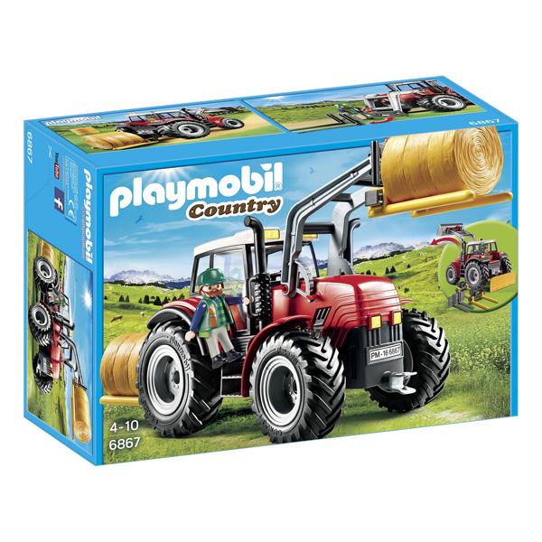 6867 grand tracteur agricole playmobil playmobil king - Jeu de tracteur agricole gratuit ...