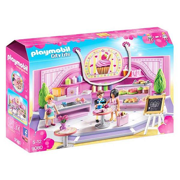 Le café Cupcake Playmobil est le lieu ou il faut se rendre afin de passer un agréable moment. Le shopping, ça donne faim ! En route pour le café Cupcake . Le choix n´est pas simple avec toutes ces délicieuses tartes . Ou peut-être plutôt un gâteau ... ou
