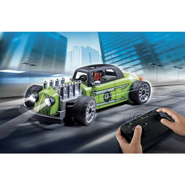 9091 voiture de course verte radiocommand e playmobil king jouet playmobil playmobil jeux d. Black Bedroom Furniture Sets. Home Design Ideas