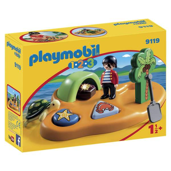 9119-Ile de pirates Playmobil 1.2.3