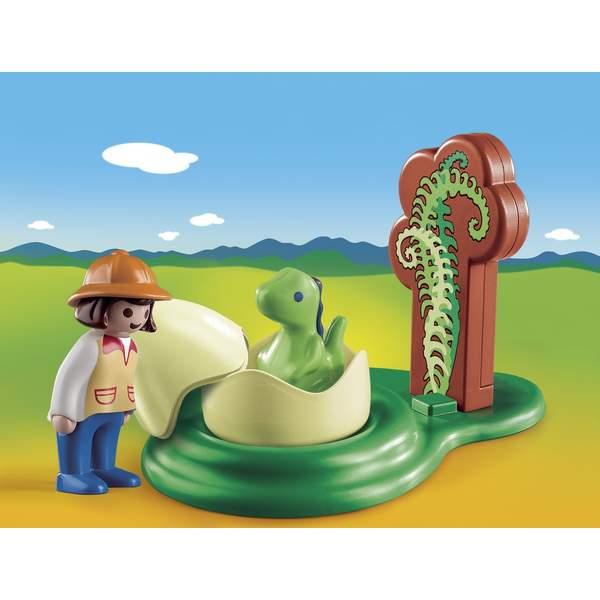 9121-Exploratrice et bébé dinosaure Playmobil 1.2.3