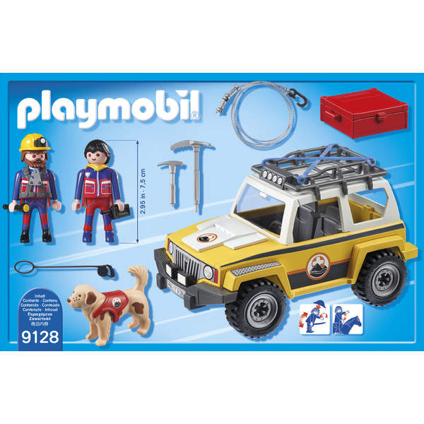9128-Secouristes avec véhicule Playmobil Action