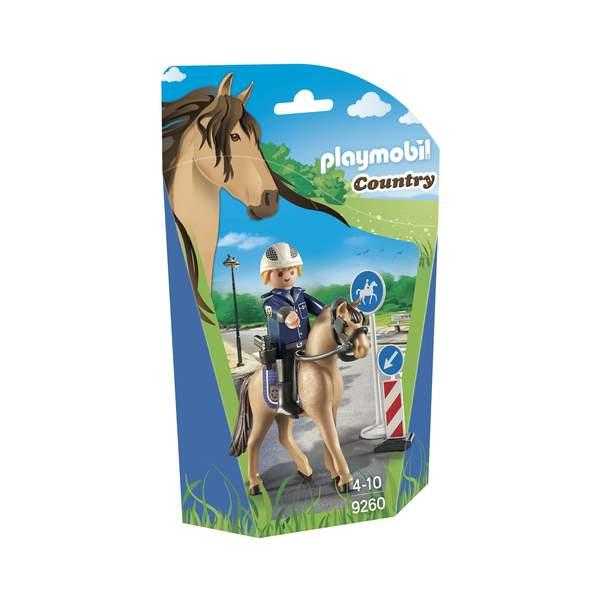 9260-Policier Playmobil avec cheval