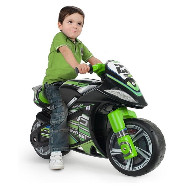 Porteur moto Winner Kawasaki Injusa   King Jouet, Porteurs   Jouets à  bascules Injusa - Jeux d éveil fc08632f1af0