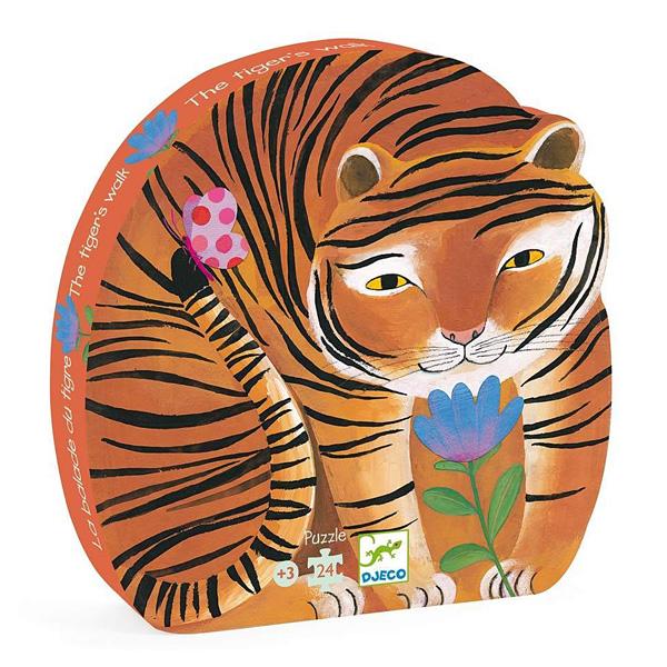 Puzzle 24 pièces balade du tigre