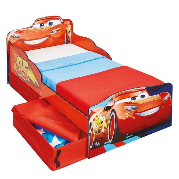 Lit enfant P'tit Bed Design Flash Mc Queen Cars avec rangements