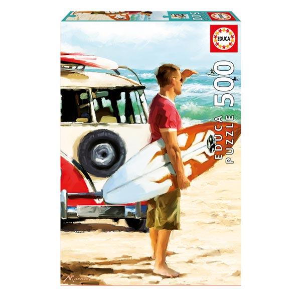 Puzzle 500 pièces surfeur