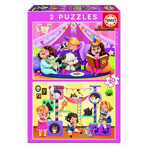 2 puzzles de 20 pièces Pyjama Party