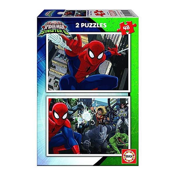2 puzzles de 48 pièces Spiderman vs The Sinister 6