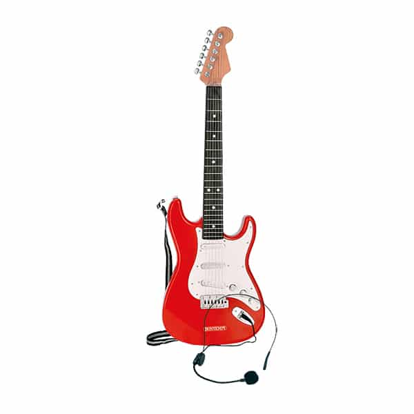 Guitare électrique avec microphone