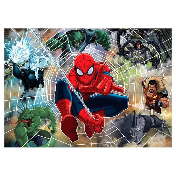 Le travail de conception de ce puzzle met en relief la toile d´araignée d´un des héros les plus populaires de Marvel : Spiderman. Lorsque vous aurez terminé le montage du puzzle vous en admirerez les couleurs et le graphisme. Les dessins sont dignes d´une