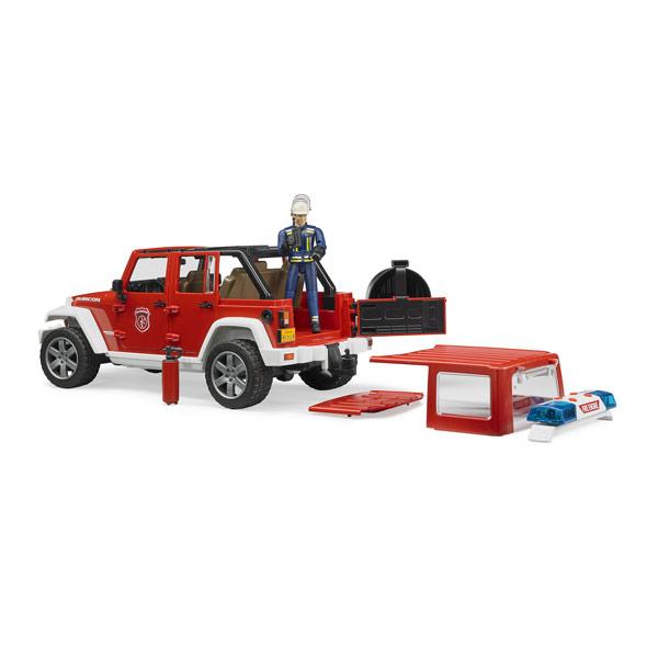 Véhicule Jeep Wrangler et figurine pompier