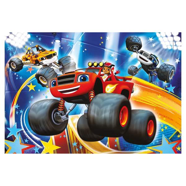 Puzzle 104 pièces Blaze et les Monster Machines