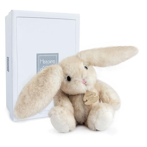 Peluche lapin écru Fluffy 27 cm