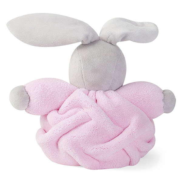 Peluche lapin patapouf rose 18 cm
