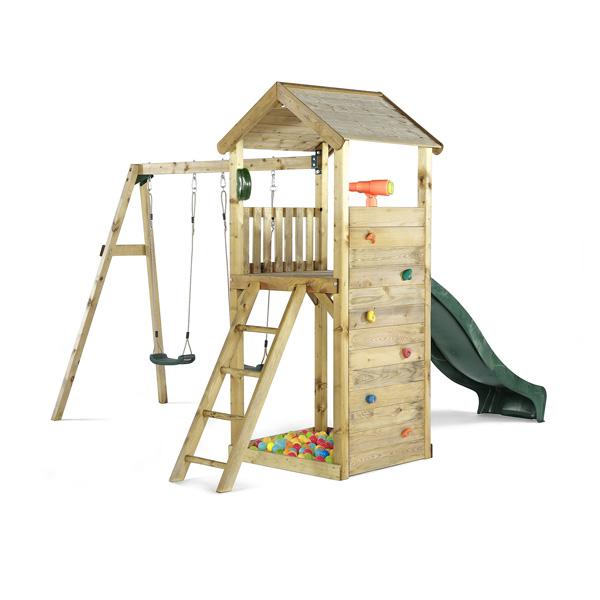 aire de jeux tour avec balan oires plum king jouet portiques balan oires et toboggans plum. Black Bedroom Furniture Sets. Home Design Ideas