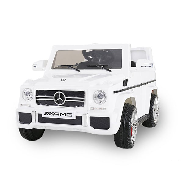 voiture lectrique mercedes g65 12v blanche bike spa e road king jouet v hicules lectriques. Black Bedroom Furniture Sets. Home Design Ideas