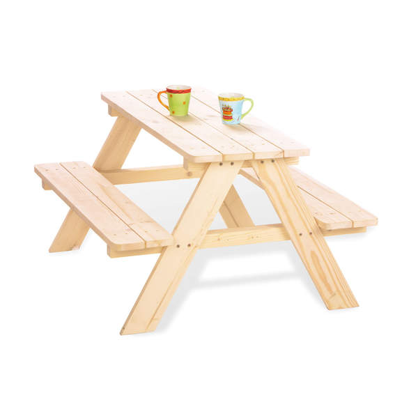 Table et chaises nature