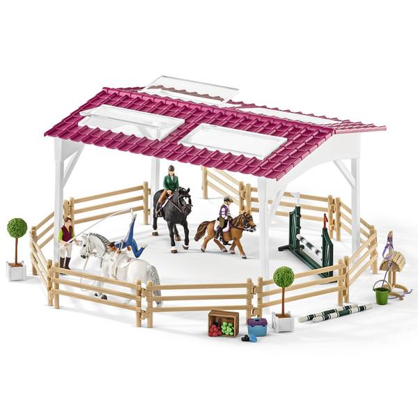 Ecole d'équitation avec chevaux