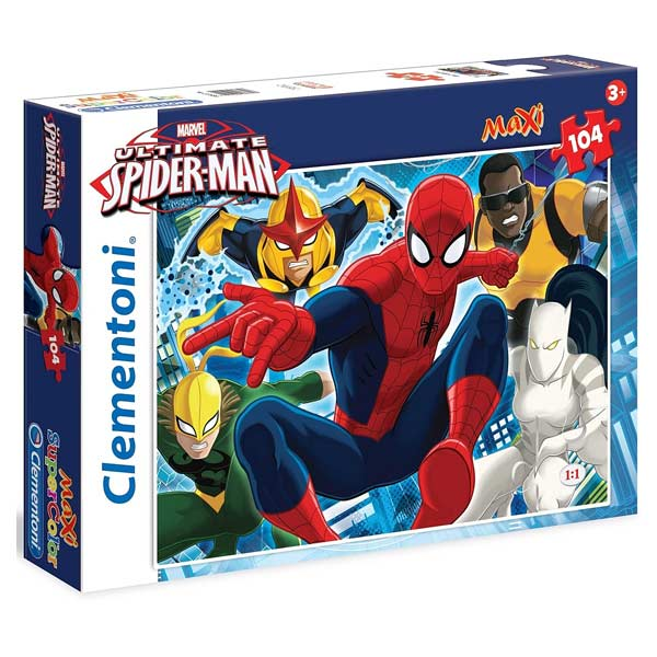 Avec ce puzzle 104 pièces avec application, les enfants vont retrouver leur héros favori sous les traits d´Ultimate Spiderman. Au fur et à mesure qu´ils avanceront dans leur construction une fois qu´ils auront téléchargé cette application, ils pourront jo