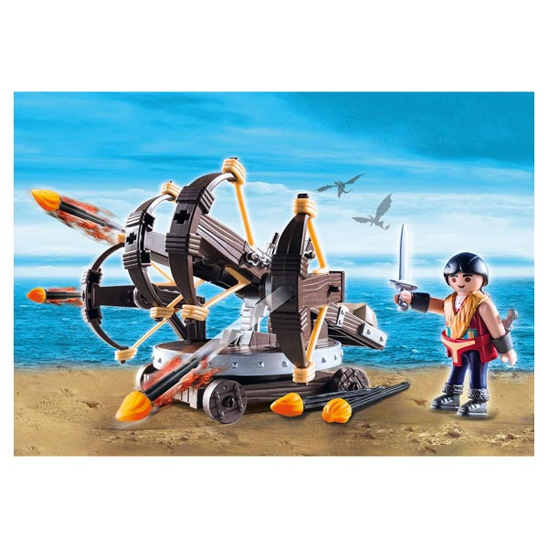 9249 - Dragons Eret et baliste à 4 projectiles - Playmobil Dragons