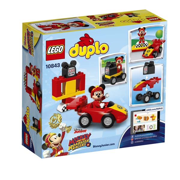 10843 la voiture de course de mickey lego king jouet lego planchettes autres lego jeux. Black Bedroom Furniture Sets. Home Design Ideas