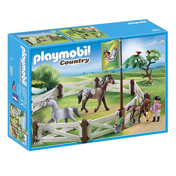 6931 - Enclos avec chevaux Playmobil Country