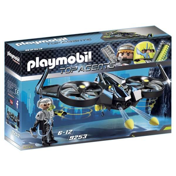 L´agent Playmobil avec son Mega Drone est prêt à intervenir pour toutes les missions qui lui seront confiées. Une personne est bloquée dans une crevasse. L´équipe d´espions envoie immédiatement le Méga Drone pour la secourir. Avec ses rotors flexibles , l
