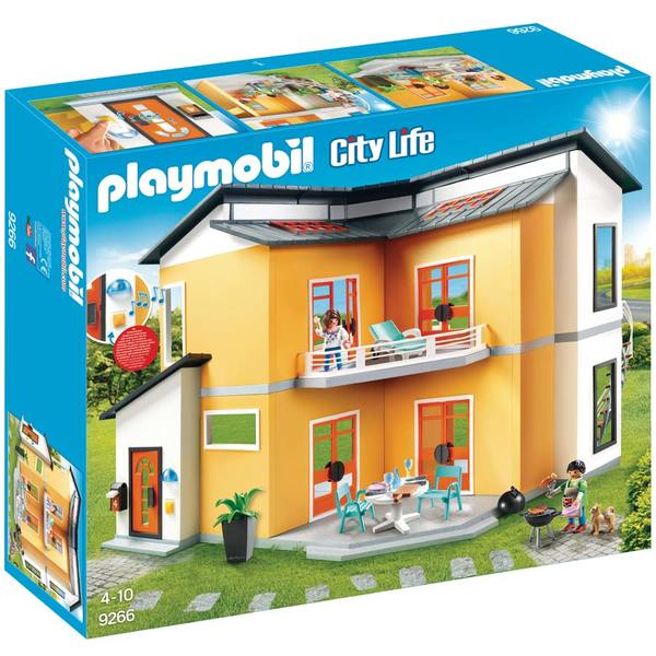 9266 maison moderne playmobil playmobil king jouet. Black Bedroom Furniture Sets. Home Design Ideas