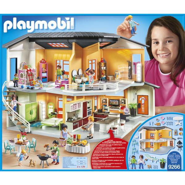 9266 maison moderne playmobil playmobil king jouet playmobil playmobil jeux d 39 imitation - Gran casa de munecas playmobil ...