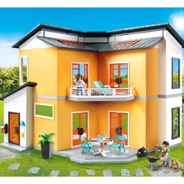 9266 maison moderne playmobil city life playmobil king for Maison moderne jeu