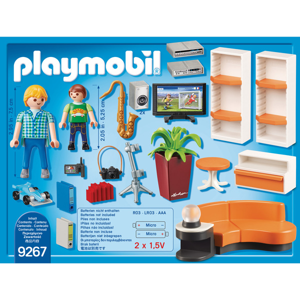 Life Salon Équipé 9267 City Playmobil mnON0v8w