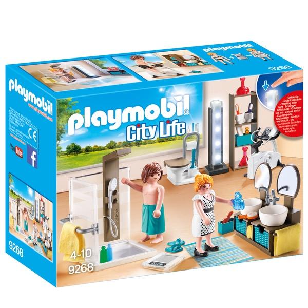 9268 salle de bain avec douche playmobil playmobil king for Prix salle de bain playmobil
