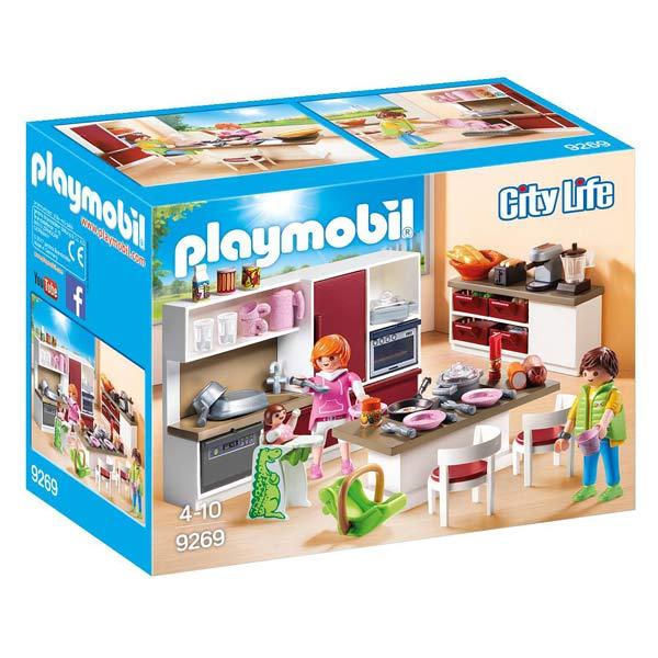 9269-cuisine aménagée playmobil playmobil : king jouet, playmobil