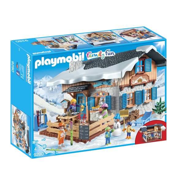 9280-Playmobil Family Fun-Chalet avec skieurs