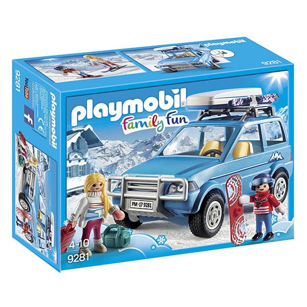 9281-playmobil family fun voiture de montagne avec coffre de toit