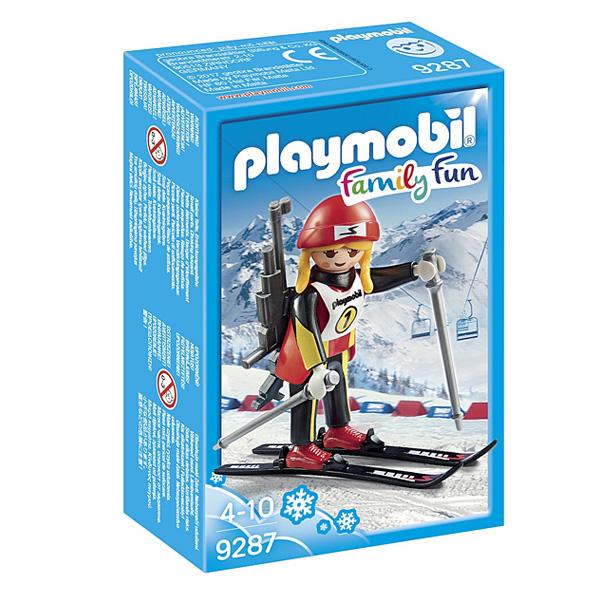 9287-Figurine biathlète Playmobil Family Fun